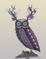 Owl with Psychedelic Antlers Fine-Art Print