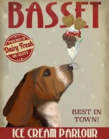 Basset Hound Ice Cream Fine-Art Print