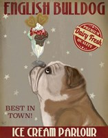 English Bulldog Ice Cream Fine-Art Print