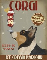 Corgi, Black and Tan, Ice Cream Fine-Art Print