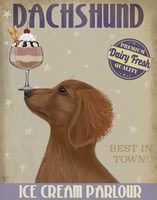 Dachshund, Gold, Ice Cream Fine-Art Print