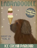 Labradoodle, Brown, Ice Cream Fine-Art Print