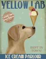 Yellow Labrador Ice Cream Fine-Art Print