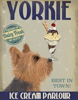 Yorkshire Terrier Ice Cream Fine-Art Print