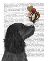 Cocker Spaniel, Black, Ice Cream Fine-Art Print