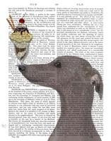 Greyhound, Grey, Ice Cream Fine-Art Print