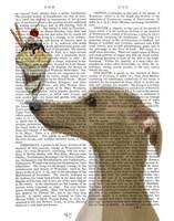 Greyhound, Tan, Ice Cream Fine-Art Print