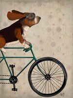 Basset Hound on Bicycle Fine-Art Print