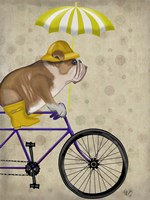 English Bulldog on Bicycle Fine-Art Print