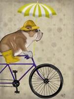 English Bulldog on Bicycle Fine-Art Print