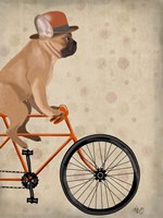 French Bulldog on Bicycle Fine-Art Print