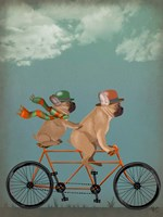 French Bulldog Tandem Fine-Art Print