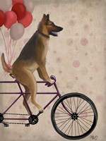 German Shepherd on Bicycle Fine-Art Print