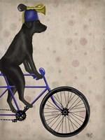 Black Labrador on Bicycle Fine-Art Print