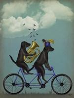 Black Labrador Tandem Fine-Art Print