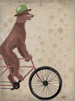 Poodle on Bicycle, Brown Fine-Art Print