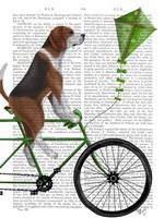 Beagle on Bicycle Fine-Art Print
