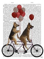 German Shepherd Tandem Fine-Art Print