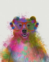 Rainbow Splash Bear Fine-Art Print