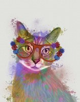 Rainbow Splash Cat 1 Fine-Art Print