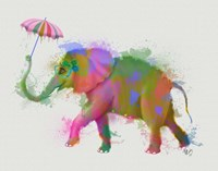 Rainbow Splash Elephant Fine-Art Print
