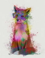 Rainbow Splash Fox 1 Fine-Art Print