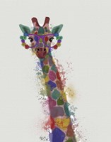 Rainbow Splash Giraffe 1 Fine-Art Print