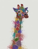 Rainbow Splash Giraffe 2 Fine-Art Print