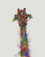 Rainbow Splash Giraffe 3 Fine-Art Print