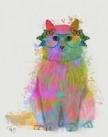 Rainbow Splash Cat 3, Full Fine-Art Print
