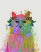 Rainbow Splash Cat 3, Portrait Fine-Art Print