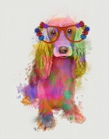 Rainbow Splash Cocker Spaniel, Full Fine-Art Print