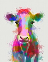 Rainbow Splash Cow Fine-Art Print