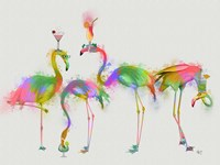 Rainbow Splash Cocktail Party Fine-Art Print