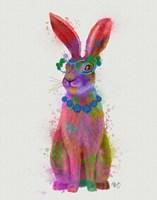 Rainbow Splash Rabbit 2, Full Fine-Art Print