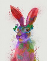 Rainbow Splash Rabbit 2, Portrait Fine-Art Print