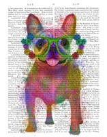 Rainbow Splash French Bulldog, Full Fine-Art Print
