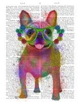 Rainbow Splash French Bulldog, Full Fine-Art Print