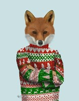 Fox in Christmas Sweater Fine-Art Print
