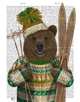 Bear in Christmas Sweater Fine-Art Print