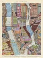 Modern Map of New York II Framed Print
