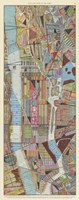 Modern Map of New York III Fine-Art Print