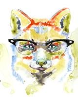 Smarty-Pants Fox Framed Print