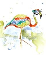 Smarty-Pants Flamingo Framed Print
