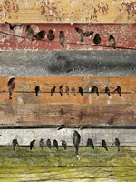 Birds on Wood I Fine-Art Print