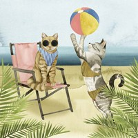 Coastal Kitties I Fine-Art Print