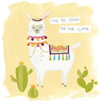 Pom Pom Llama Rama I Fine-Art Print