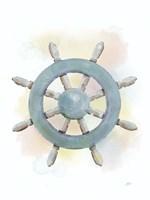 Watercolor Ship's Wheel Fine-Art Print