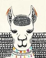 Party Llama IV Framed Print