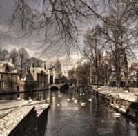 Bruges In Christmas Dress Fine-Art Print